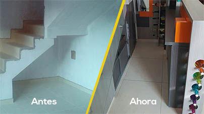 Aprovecha el espacio bajo tu escalera for Barra bajo escalera
